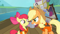 Applejack talking silently to Apple Bloom S4E09.png