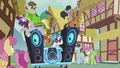 DJ Pon-3's DJ station speeds down the road S5E9.png