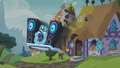 DJ Pon-3's mobile DJ station bursts out of the house S5E9.png