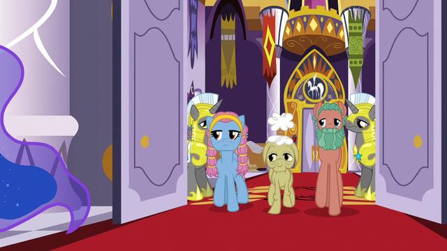 File:Delegate ponies enter the castle dining hall S7E10.png