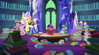 Fluttershy brings more books to Twilight Sparkle S7E20