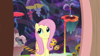 Fluttershy entering Discord's house S7E12