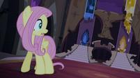 Fluttershy sozinha na sala do trono T4E03