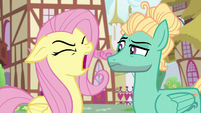 Fluttershy yelling at Zephyr Breeze S6E11