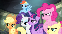 Main ponies annoyed at Spike S4E06