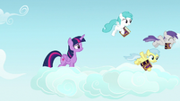 Pegasus fillies following Rainbow Dash S7E14