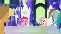 "Pinkie ""I think Sans Smirk's hooves"" S9E14"