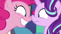 Pinkie Pie bumping noses with Starlight S8E3