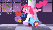 Pinkie Pie firing her cannon S2E9