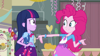Pinkie Pie talking about the dance EG