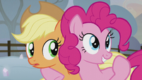 Pinkie declares AJ and herself team four S5E20