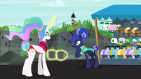 "Princess Luna ""because of my night shift"" S9E13"