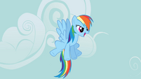 Rainbow Dash about to go off and search for the signs of disaster S2E20