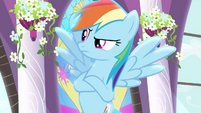 Rainbow Dash speaking to Rarity S4E1