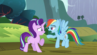 Rainbow Dash sustained --right-- S6E6