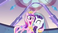 Rarity & Princess Cadance enjoying themselves S3E12