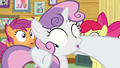 Rarity putting a hoof around Sweetie Belle S7E6.png