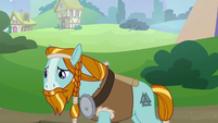 Rockhoof sulking outside the school S8E21