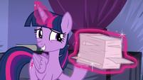 Twilight Sparkle levitating backup notes S8E11
