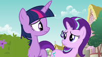 Twilight and Starlight feel sorry for Rarity S7E14