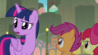 Twilight asking where Terramar is S8E6