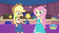 AJ and Fluttershy spruce up for the camera EGDS36