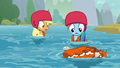 AJ and Rainbow notice Yona's life vest S8E9.png