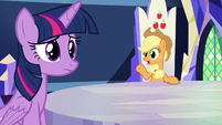 Applejack -try him out at the post office- S8E21