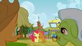 Applejack and Granny Smith watching Apple Bloom and Babs Seed S3E8.png