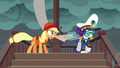 Applejack and Rarity fight over the map S6E22.png