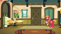 Applejack tackles Granny Smith into the kitchen S6E23.png