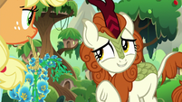 Autumn Blaze looking embarrassed again S8E23