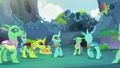 Changelings looking and backing away S7E17.png