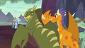 Dragons turn to face Rainbow Dash and Spike S7E25.png