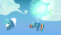 Fireworks explode behind Rainbow and Fleetfoot S7E7.png