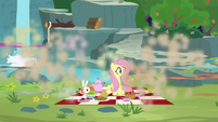 Fluttershy watches her animals run away S8E4
