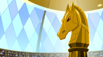 Horse bust in the Canterlot High library EGDS12