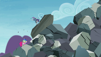 Maud Pie punching giant boulder S4E18