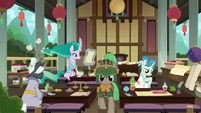 Mistmane's magic school classroom S7E16