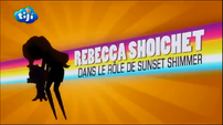 My Little Pony Equestria Girls Rainbow Rocks 'Rebecca Shoichet as Sunset Shimmer' Credit - French