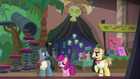 Ponies cosplaying as Dr. Caballeron S6E13