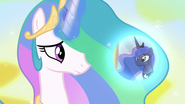 File:Princess Celestia conjures Luna's dream bubble S7E10.png