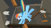 Rainbow Dash kicking S02E03