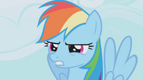 Rainbow Dash squinting into the distance S1E04