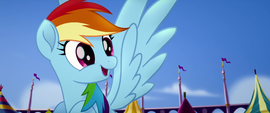 Rainbow Dash thirsty for apple cider MLPTM