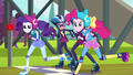 Rarity and Pinkie take off from the starting line EG3.png