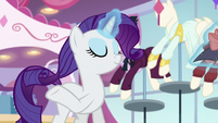 Rarity touches her mane S5E15