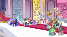Star Swirl reuniting with Celestia and Luna S7E26