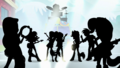 The Rainbooms as silhouettes in blinding light SS13.png