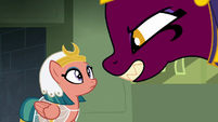 The sphinx grins wickedly at Somnambula S7E18
